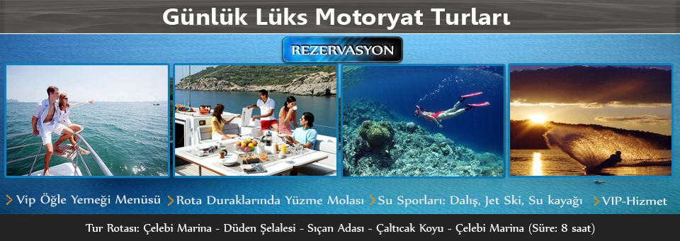 Antalya Günlük Lüks Motoryat Turu